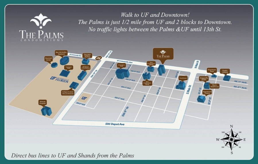 The Palms Map in Gainesville FL