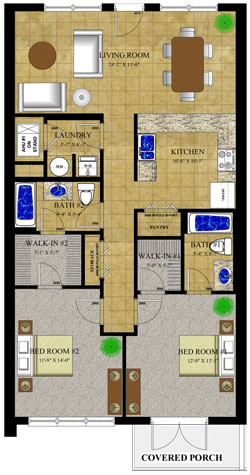 Gainesville Palms Canary Floorplans